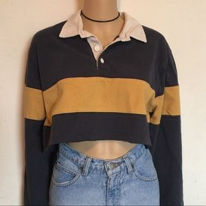 Vintage Copped Collared Long Sleeve Top